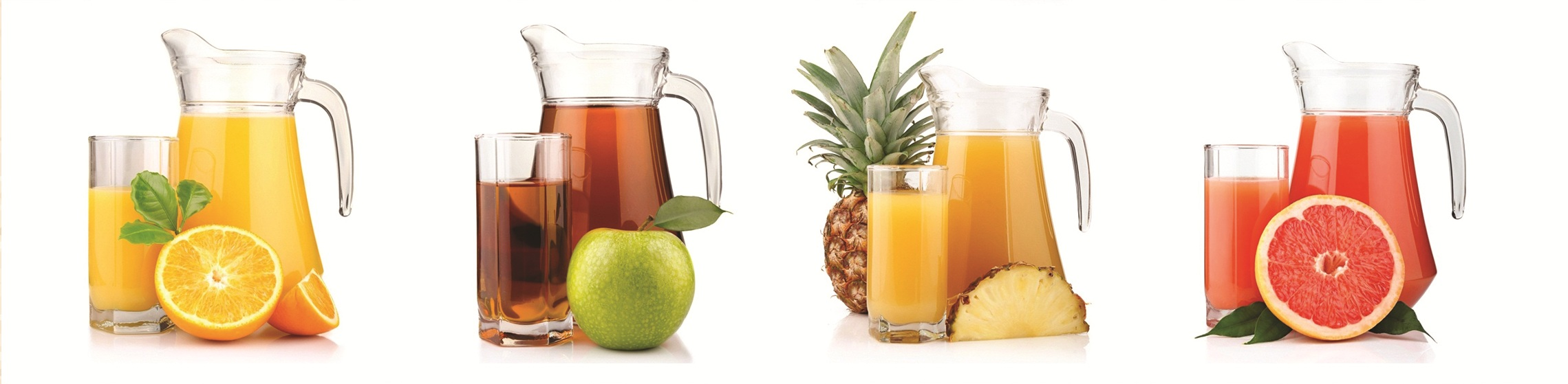 Varieties of juices supplied to airlines, hotels, restaurants, resorts, cafes, etc