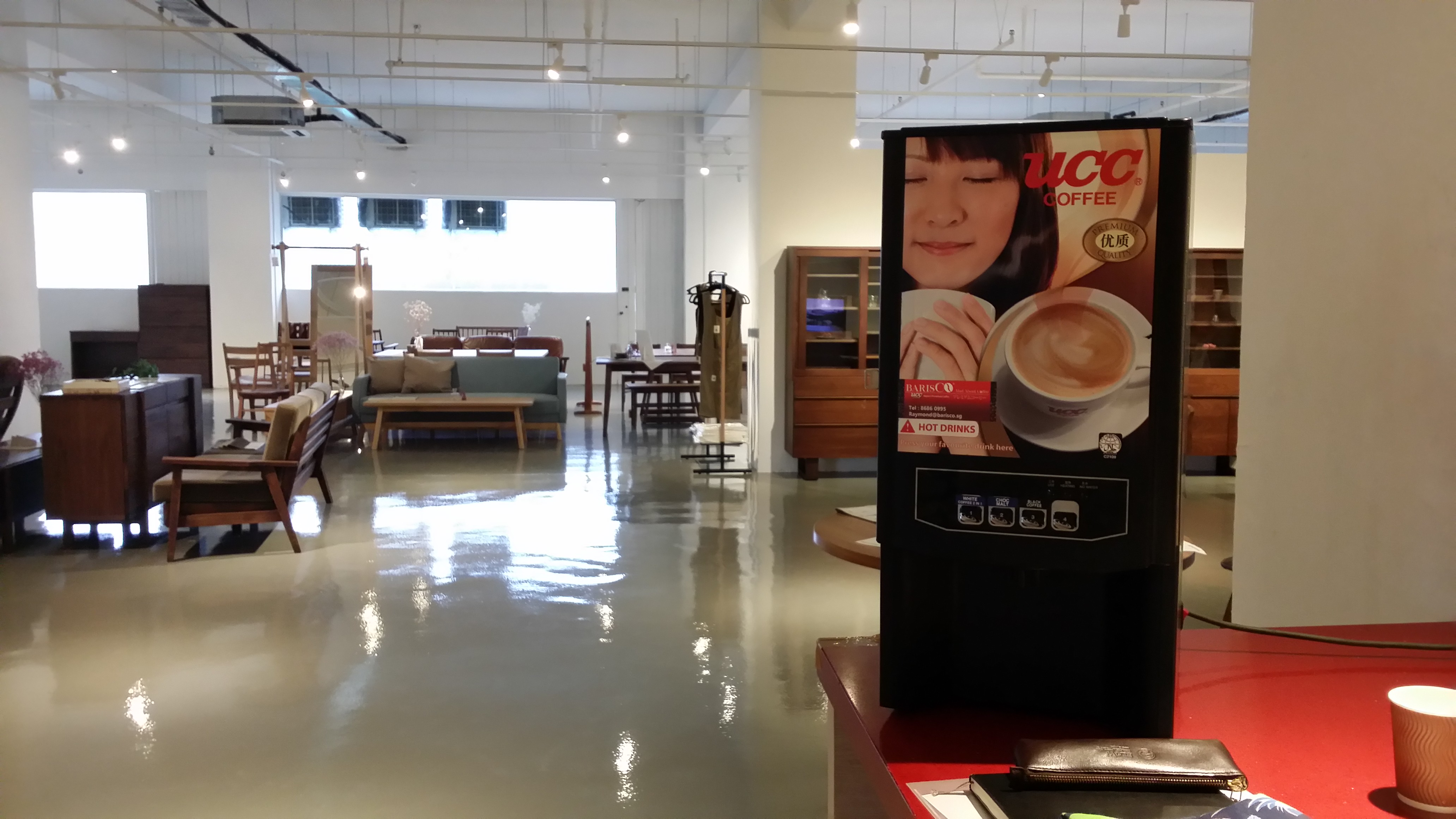 Coffee Machine Rented by a Singapore Lifestyle Furniture Showroom