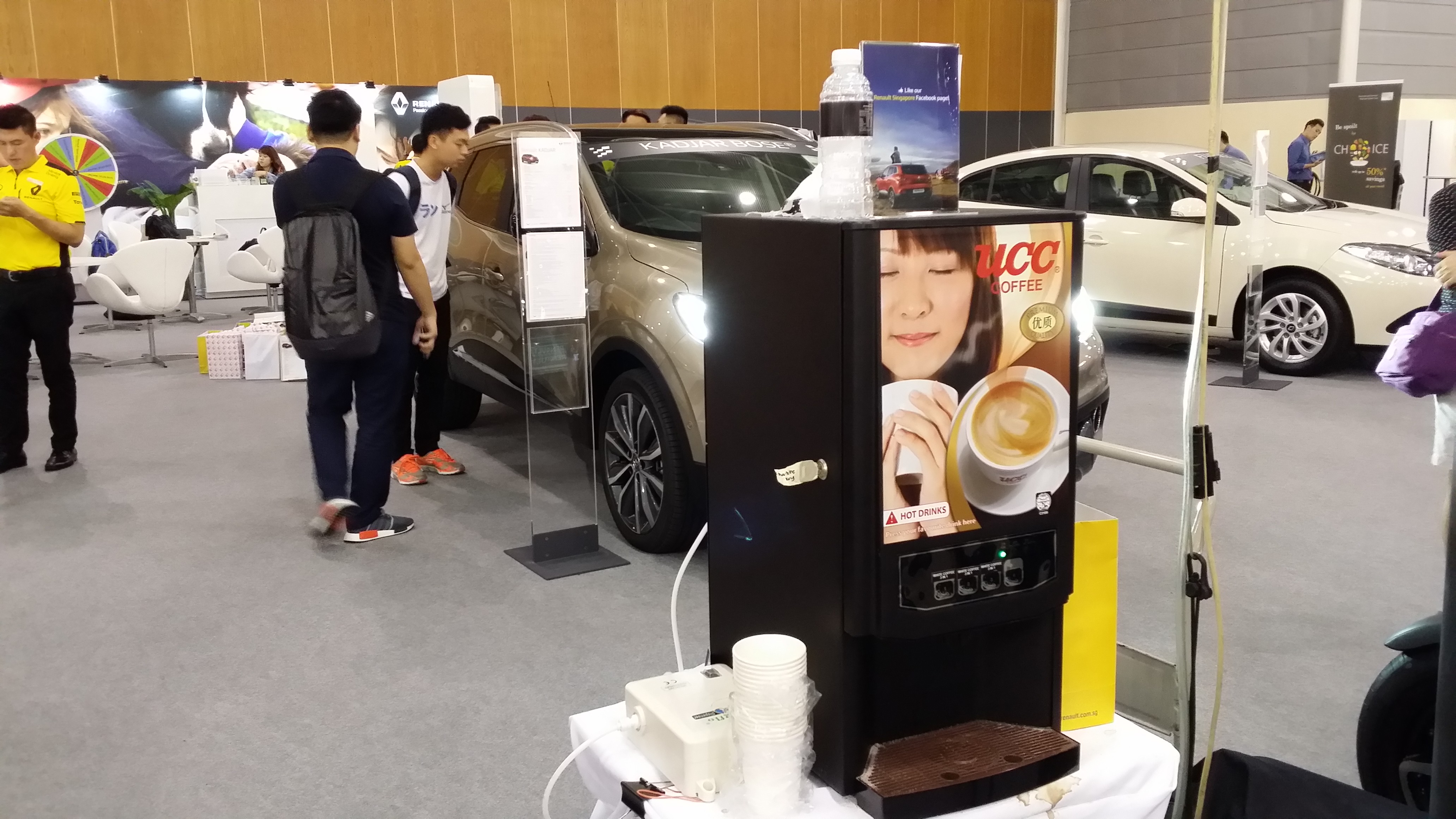 UCC Coffee Machine Rental - Car Show at Singapore Expo