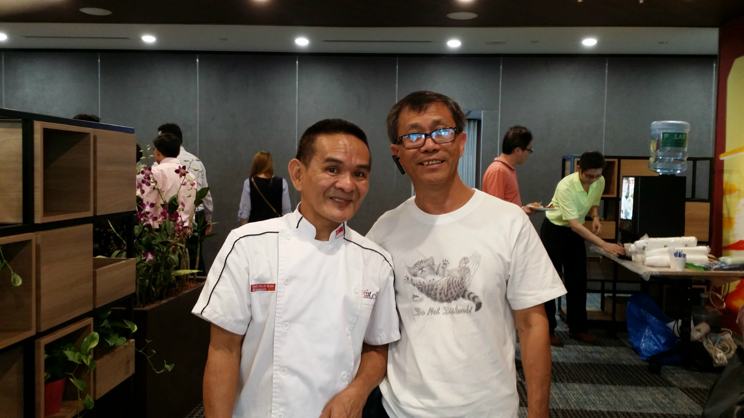 Michelin Star Chef Chan and UCC Coffee Machine Rental Singapore at Prudential Tower