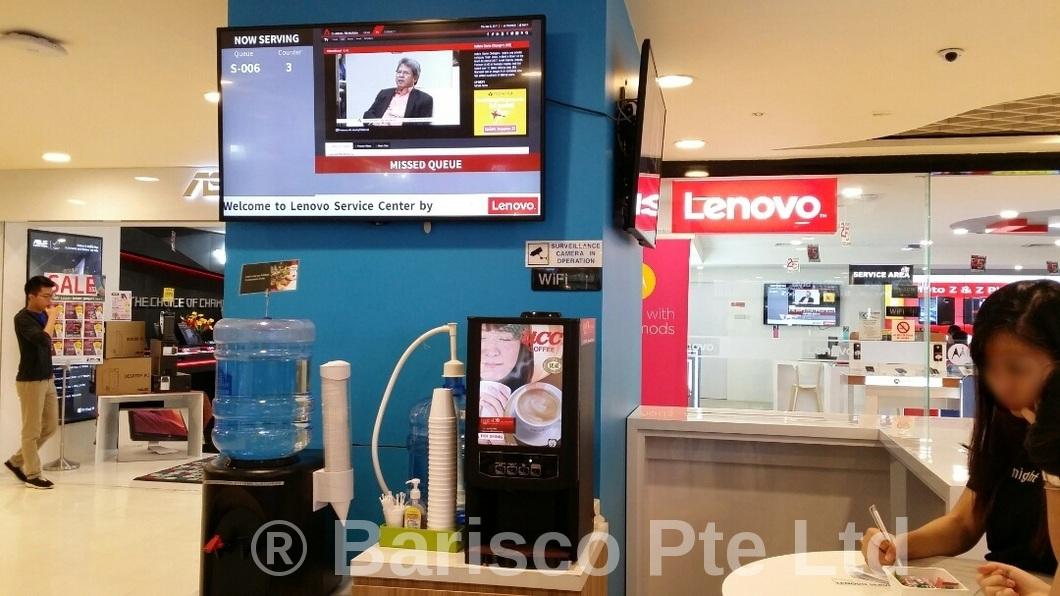 Hot Beverage Dispensing Machine, Service Centre