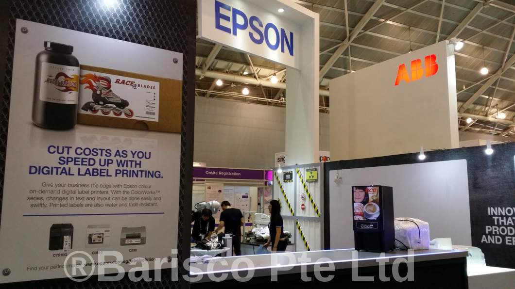 Hot Beverage Dispensing Machine Rental at Epson Booth Singapore