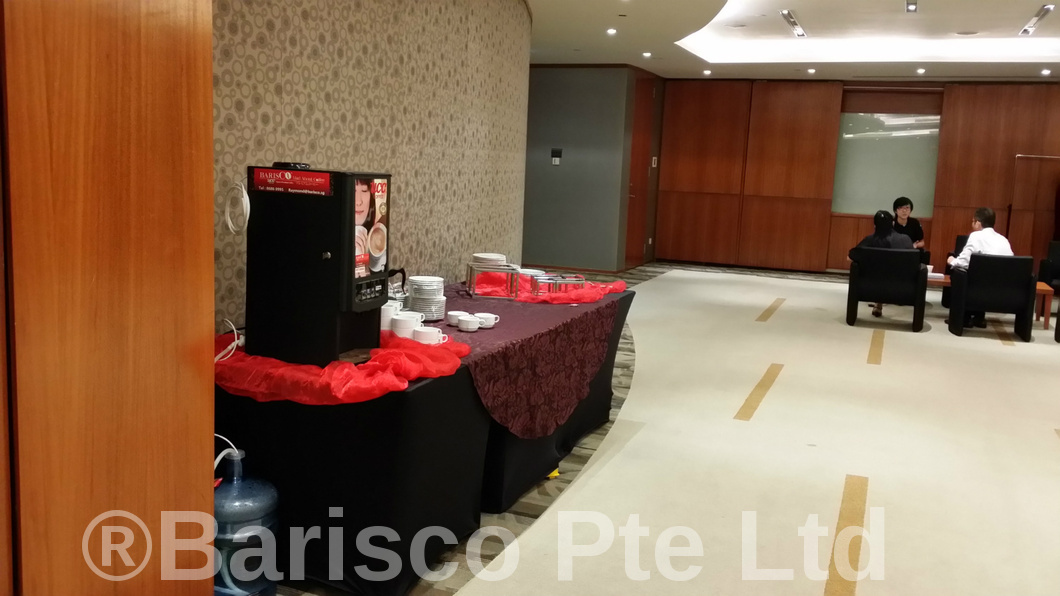 Coffee Machine Rental by caterer in Singapore venue