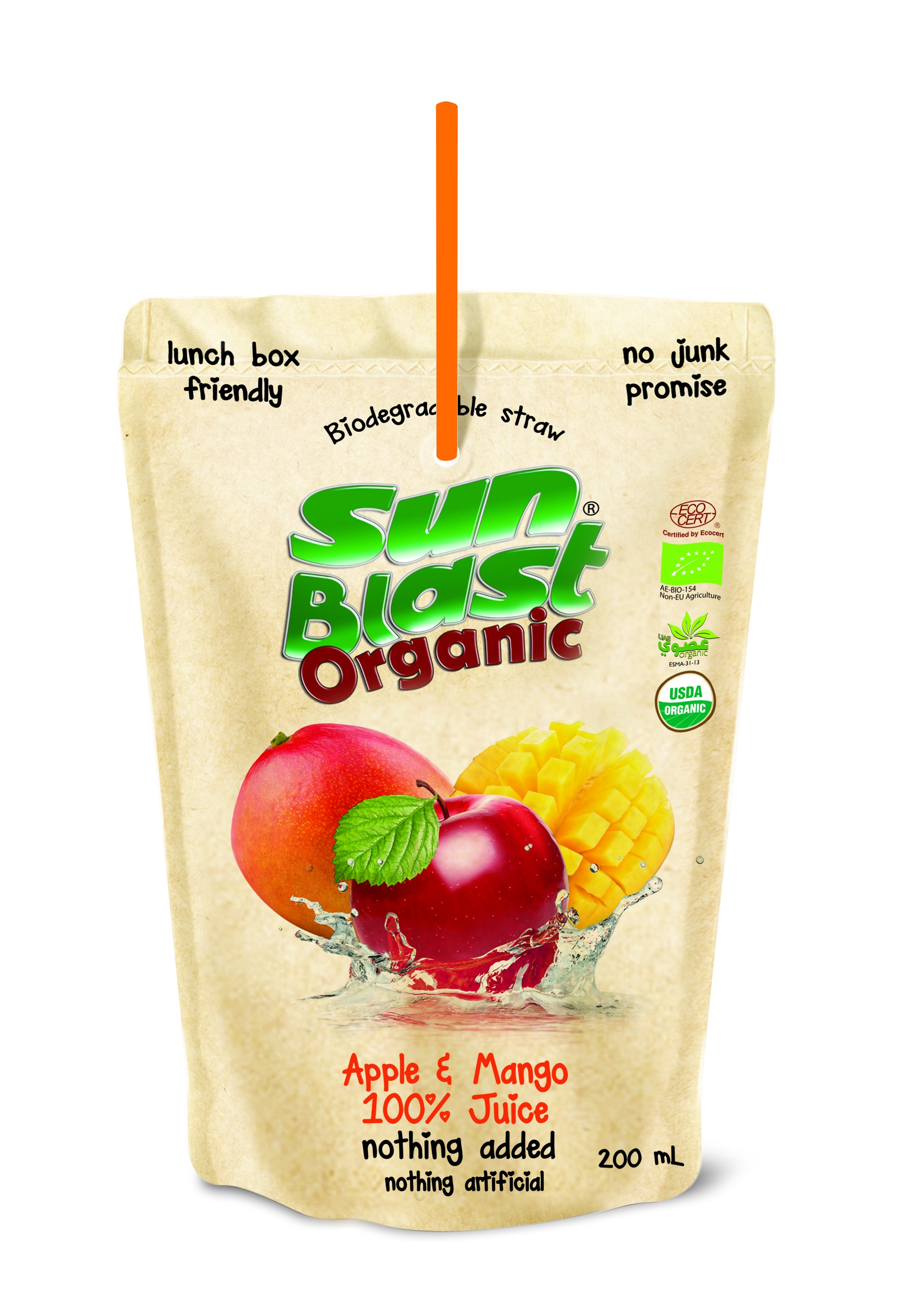 Organic 100% Apple Mango Juice